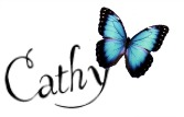 blue butterfly signature